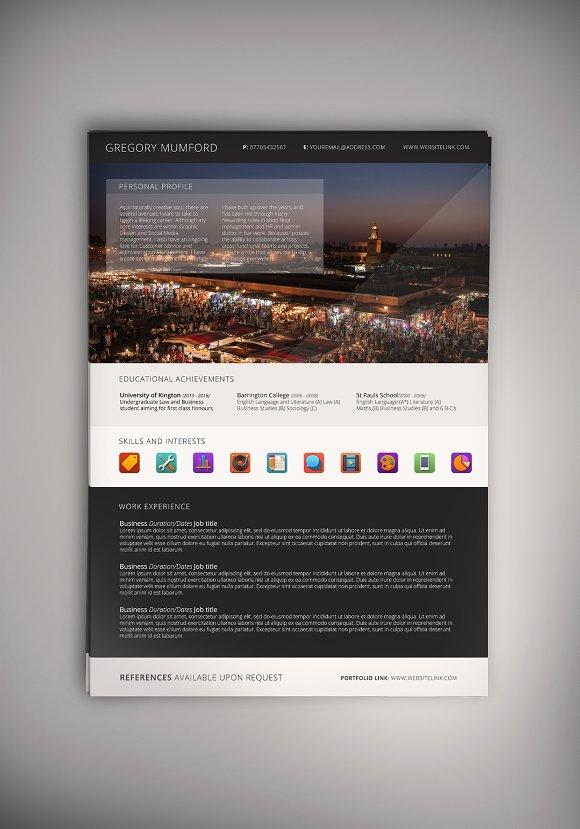 Portfolio Mark III CV/Resume (PSD)
