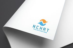 N Chat Logo Template