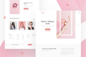 Beauty + Makeup Landing page