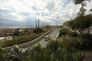 The road that crosses Cagliari