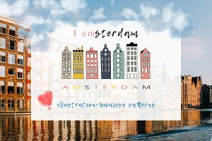 I AMsterdam illustration & patterns