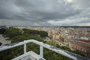 The historic center of Cagliari seen