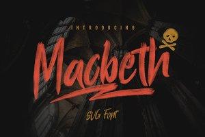 Macbeth - OpenType SVG Font
