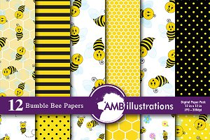 Bumblebee Digital Papers, AMB-916