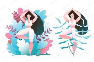 Woman Practice Yoga Tree Pose