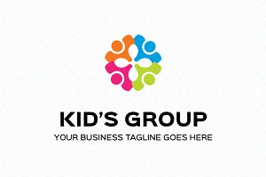 Kid's Group Logo Template