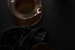 Pour over coffee in picther in two g
