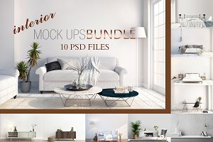 MOCK UPS BUNDLE, 10 INTERIOR PSD