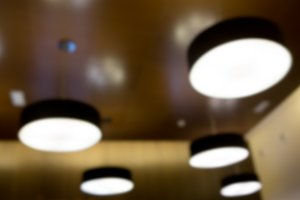 Unfocussed ceiling lights