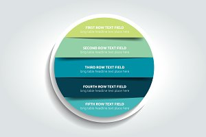 3d circle, round infographic, chart