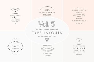 Type Layouts Vol. 5 Text Based Logos