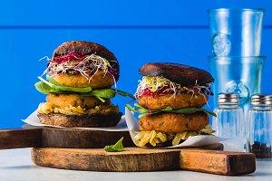 banner of Gluten-free vegan burger m