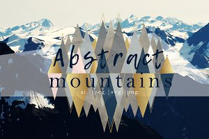 Abstract Mountains Illustration