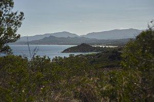 The coastline of Capo Ferrato