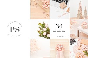 Holiday Pink Stock Photo Bundle