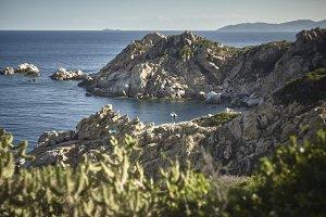 Small natural bay in Sardinia