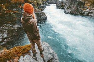 Woman traveling alone in Sweden