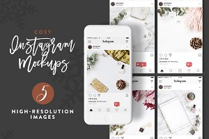 5 Styled Cosy Instagram Mockups