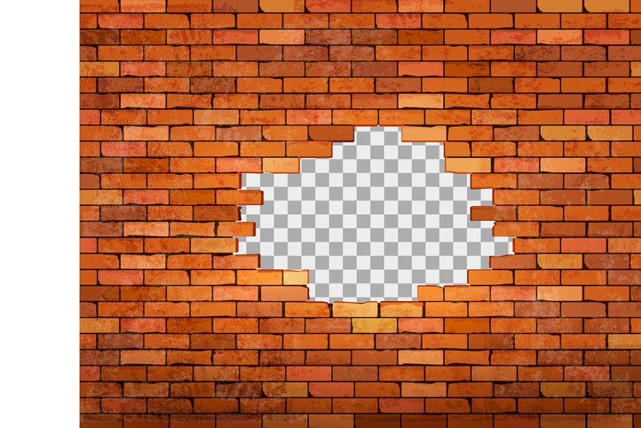 Vintage Red Brick Wall Frame