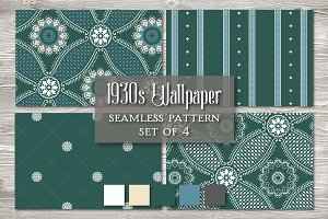 Vintage Seamless Pattern Green
