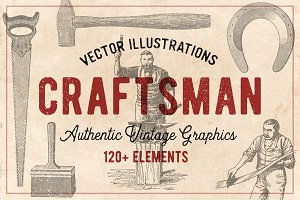 120 Vintage Tools & Craft