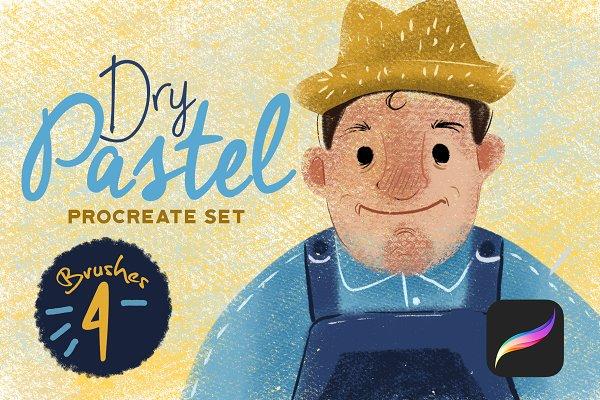 Dry Pastel Procreate Set