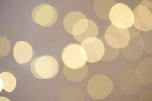 Blurred gold color circles