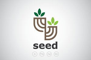 Double Seed Logo Template