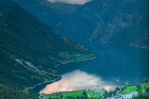 A grand view of the Geirangerfjord