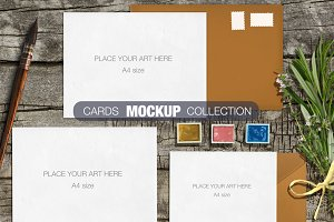 Cards mockup collection
