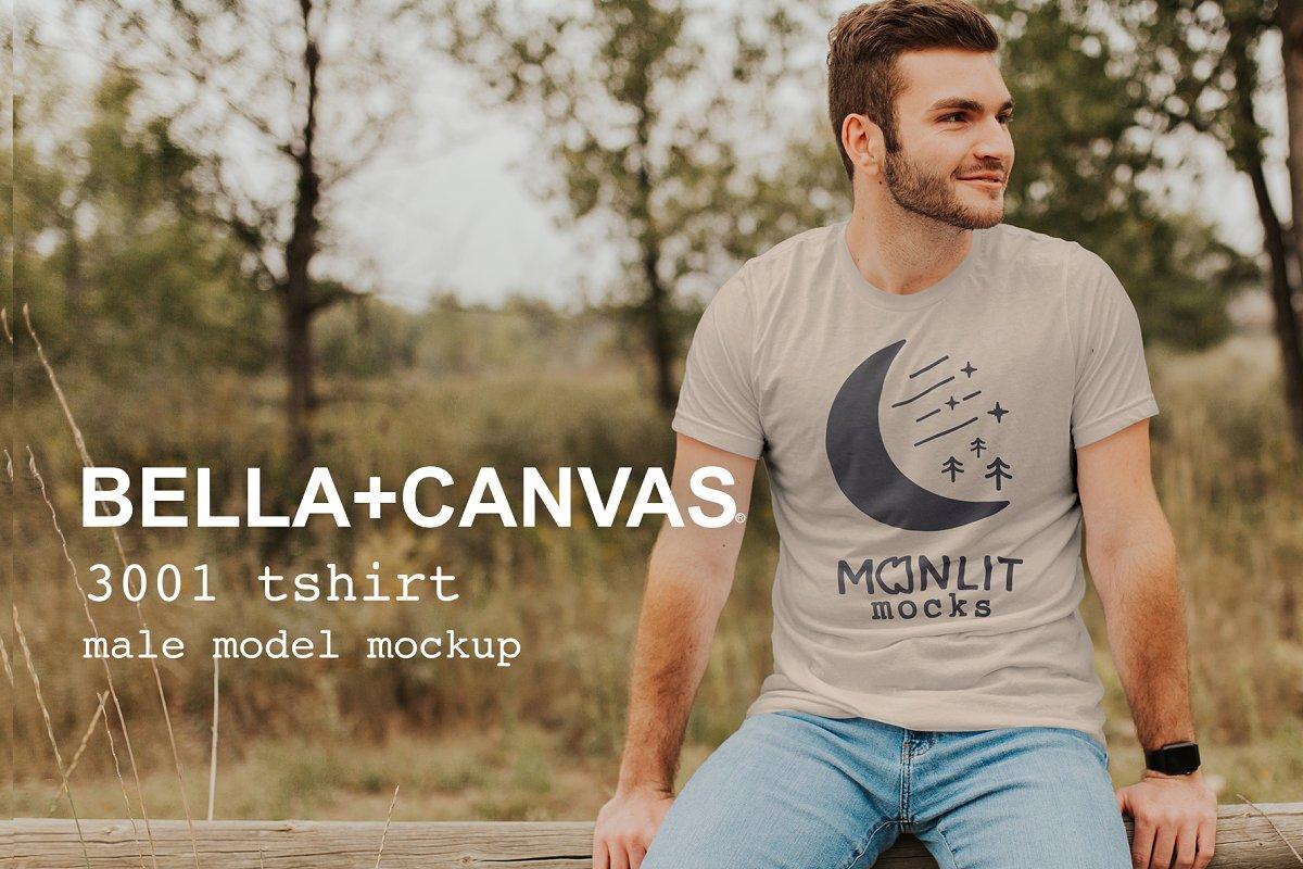 Bella Canvas 3001 Mens Tshirt Mockup Creative Product Mockups