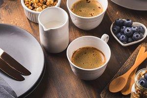 Cozy Breakfast food concept dark