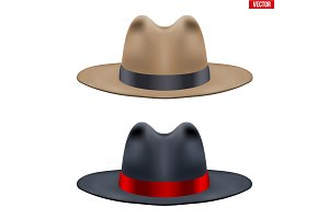 Set of Classic Men Hat
