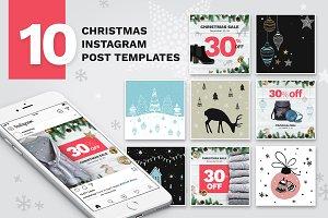 10 Christmas Instagram Templates