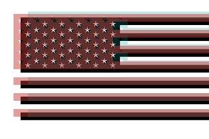 American flag, USA flag 3D