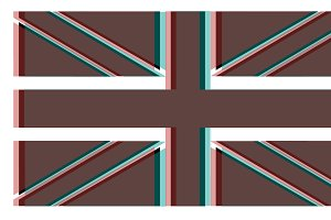 British flag color channel effect ba