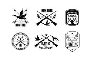 Hunting club logo, wild adventure