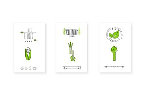 Bio product logo, vegetarian food