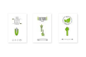 Bio product logo, vegetarian food