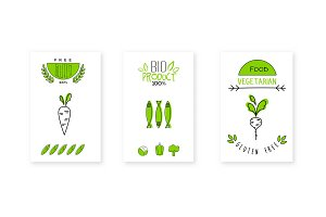 Bio product logo design, vegetarian