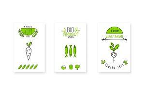 Bio product logo design, vegetarian