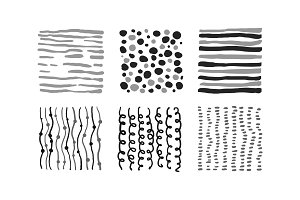 Cute monochrome abstract patterns