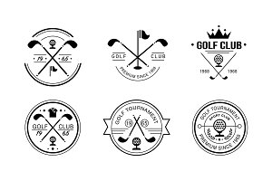 Golf club premium since 1968 logo