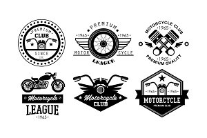 Premium motorcycle league logo set