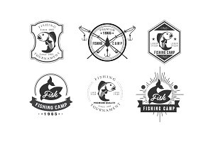 Fishing tournament logo design