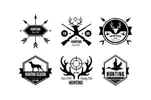 Hunting season logo, wildlife