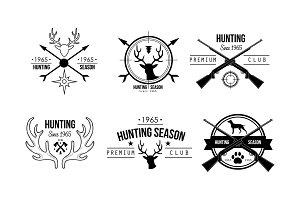 Hunting season premium club logo