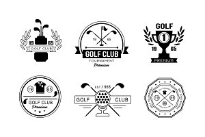 Golf club premium logo design set
