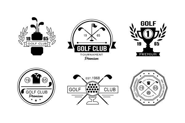 Golf Club Premium Logo Design Set Pre Designed Vector Graphics Creative Market