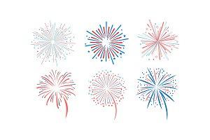 Fireworks set, design element for